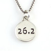 26.2  Marathon Sterling Silver Necklace
