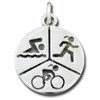 Sterling Silver Sporty Gal Triathlon Pendant