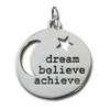 Sterling Silver Dream Believe Achieve Pendant