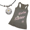 Sole Sister with Silver Beads Necklace and Tank Top
