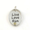 Live Love Run Pendant