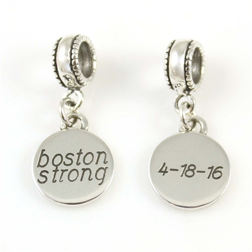 Boston Strong 2-sided Charm for Bead Bracelet