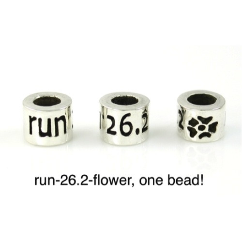26.2 Marathon-Run-Flower Bead