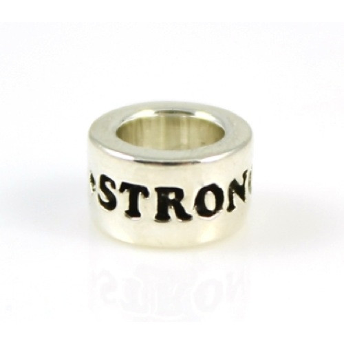 Sterling Silver STRONG Inspiration Bead