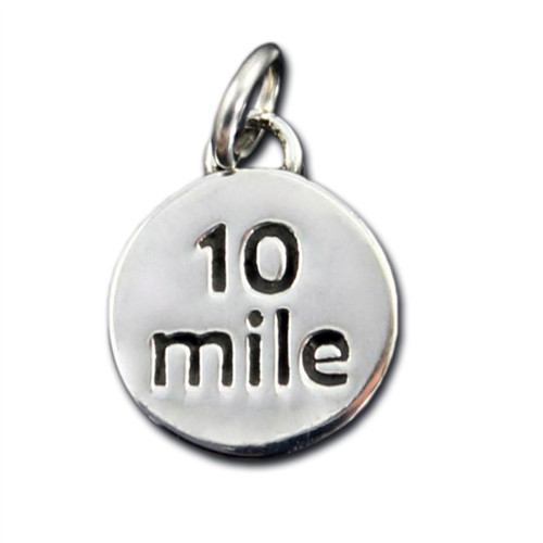 Sterling Silver 10 Mile Charm