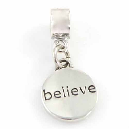 Believe Charm for Bead Bracelet