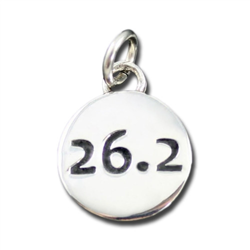 Sterling Silver 26.2 Charm