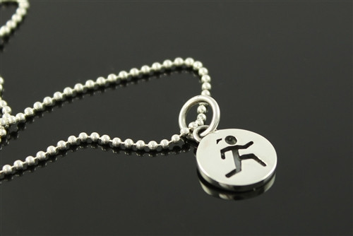 Sporty Gal Round Runner Charm
