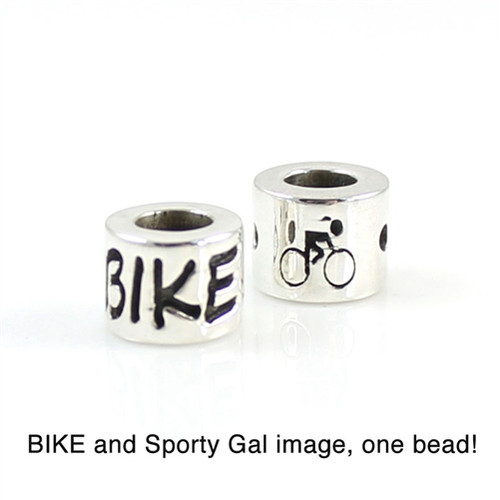 Sporty Gal Bike Bead