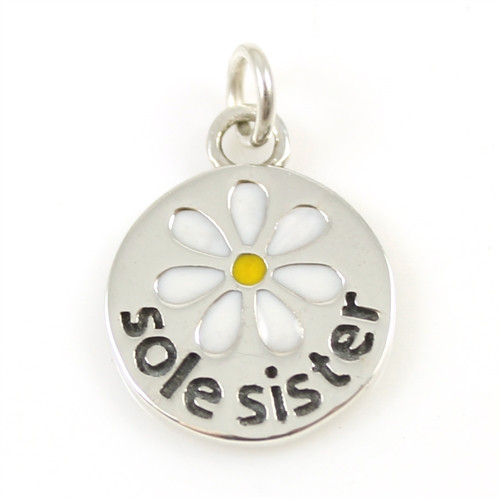 Sterling Silver Sole Sister Charm