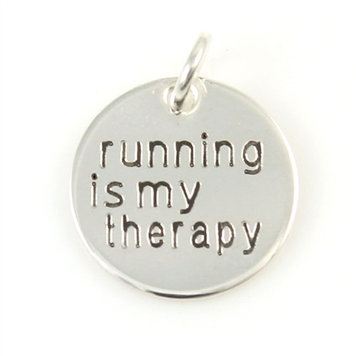 Running is My Therapy Charm