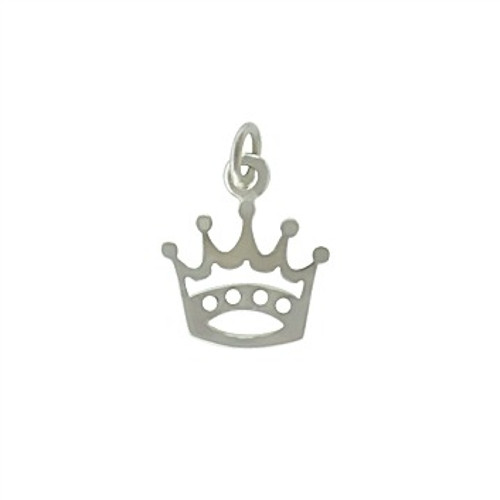 Sterling Silver Mini Crown Charm