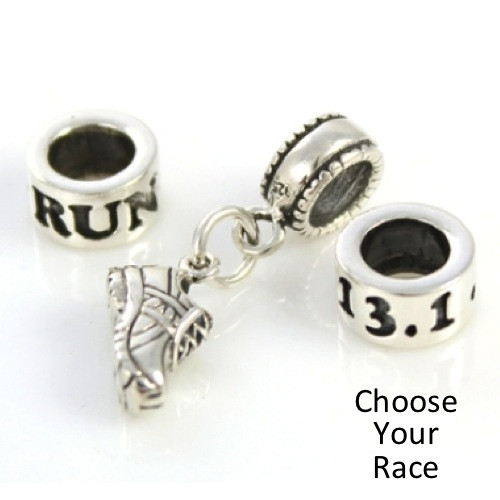 RUN, Shoe Mini Charm, Race 3-Bead Combo