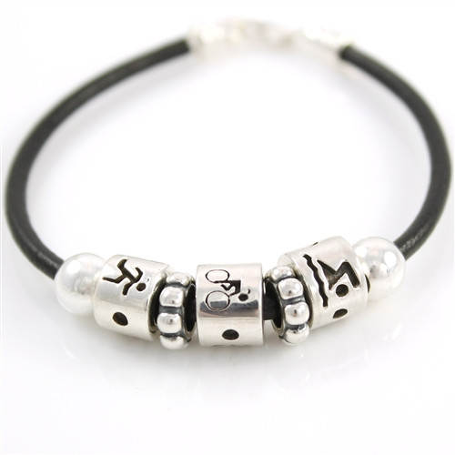 Sporty Gal Swim Bike Run Bead Bracelet