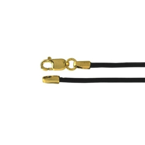 Leather Necklace with Gold Filled Clasp