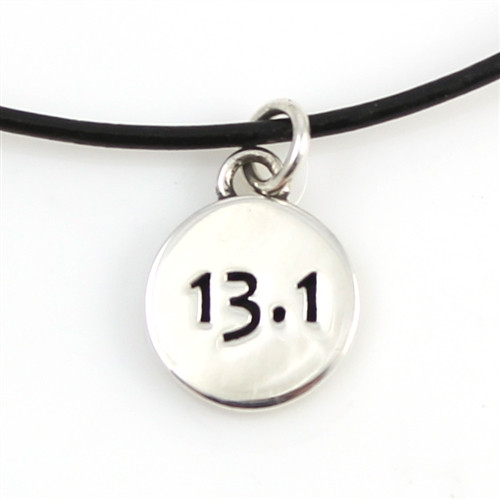 Leather 13.1 charm necklace