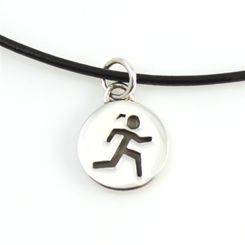 Leather Sporty Gal charm necklace
