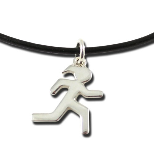 Modern Sporty Gal Runner Necklace