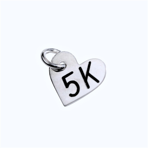 5K Sterling Silver Mini Heart Charm