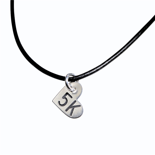 5K Sterling Silver Mini Heart Charm Necklace