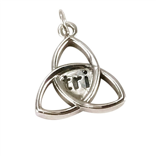 Sporty Triathlon Celtic Knot Pendant on Snake Chain and Leather Cord