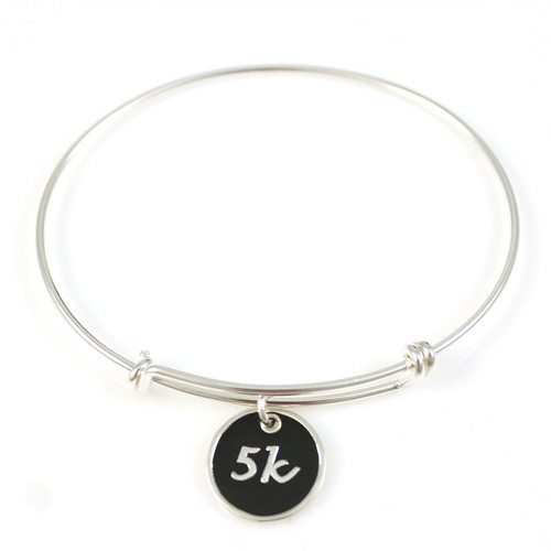 5k Large Enamel Charm Bangle Bracelet