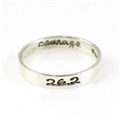 26.2 Courage Stacker Ring
