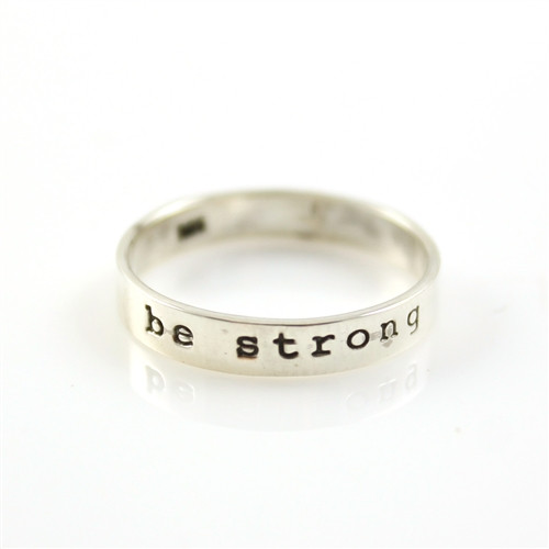 Be Strong Stacker Ring