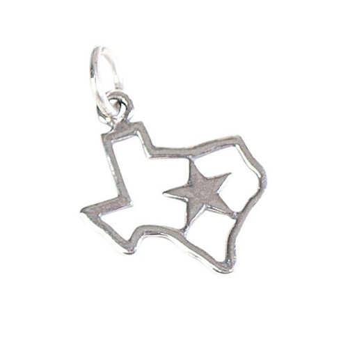 Sterling Silver Texas Lone Star Pendant