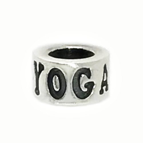 Sterling Silver YOGA Pandora Style Bead