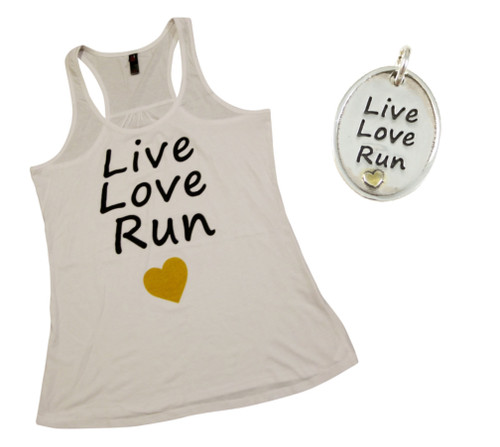 Live Love Run Tank Top and Pendant