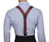 Red Paisley Suspenders Y Back