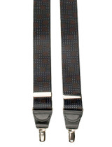 Black Patterned Suspenders