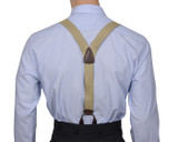 Beige Button Braces Y Back