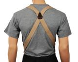 Beige Hip Clip Suspenders Rear View