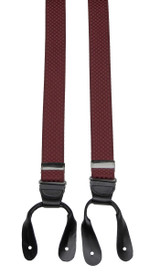 Burgundy Button Braces