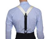 Ivory Barathea Suspenders Y Back