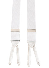 White Moire Suspenders