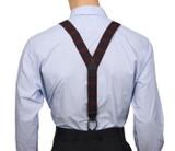 Red Plaid Button Braces Y Back