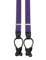 Skinny Purple Button Braces
