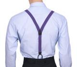 Skinny Purple Y Back Braces