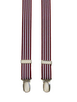 Super Skinny Burgundy Striped Braces