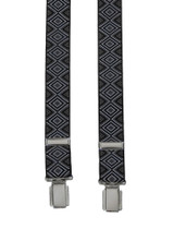 H-Back Black Patterned Braces