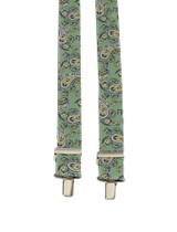 Green Paisley Braces
