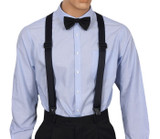 Navy Airport Friendly Suspenders Front