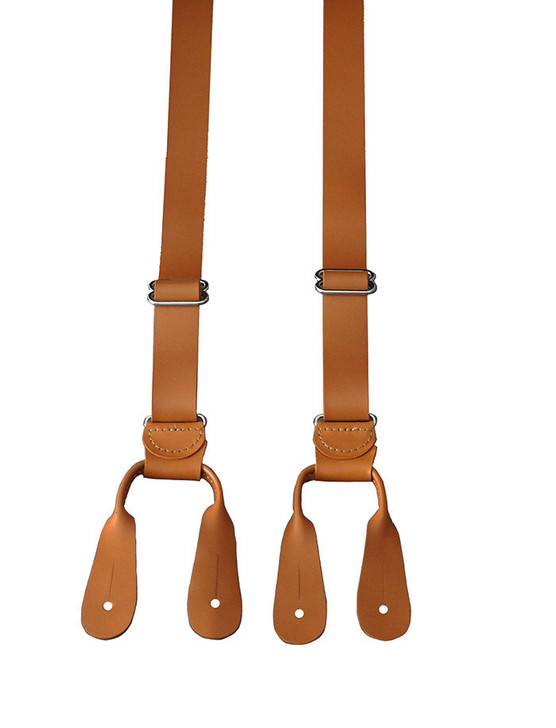 Leather Button Suspenders