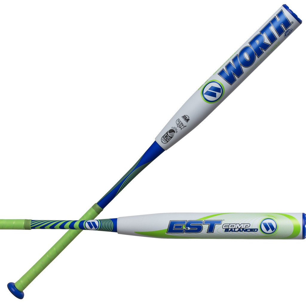 "2018 Worth EST COMP 12.5"" Balanced Slowpitch Softball Bat W125EB"