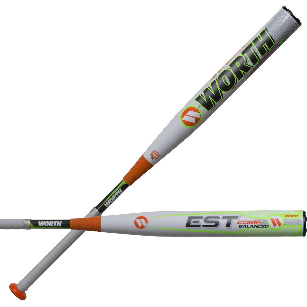 "2019 Worth EST Comp 13.5"" Balanced ASA Slowpitch Softball Bat WE19BA"