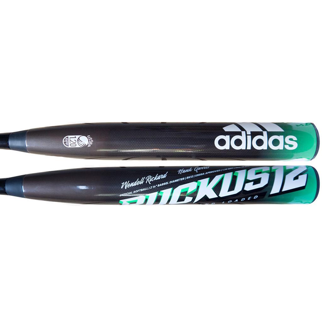 2020 Adidas Ruckus 12 End Loaded USSSA Slow Pitch Softball Bat: EC9361