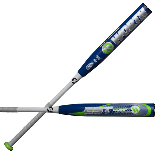 "2018 Worth EST Hybrid 12.5"" XL Comp USSSA Slowpitch Softball Bat W125EH"